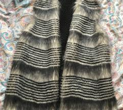 Brezrokavnik faux fur