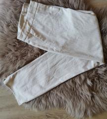 Crem bele poletne poslovne hlače S