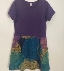 Dekliška pletena obleka