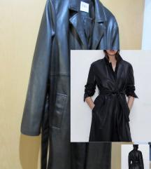 Zara faux-leather plašč