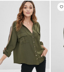 Olivno zelena bluza