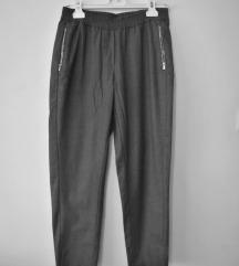 H&M športno elegantne sive hlače