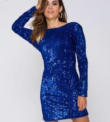 Modra glitter elegantna obleka