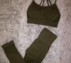 Army Green Seamless pajkice in modrc