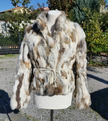 DERHY št. 42 / 44 ( L ) zajčje krzno jakna
