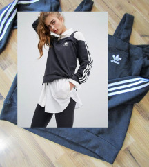 Adidas originals cold-shoulder pulover