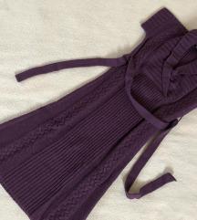 Morgan pletena vijolična obleka xs-s, MPC 130€