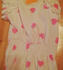 Nova bela srajčka s pink srčki IT