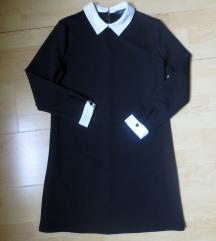 Črna oblekca z dolgimi rokavi
