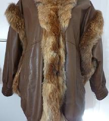 usnjena krznena jakna IUV