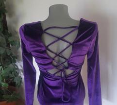 Žametna viola obleka