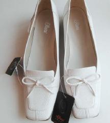 Beli elegantni snake leather čevlji S.Oliver 38