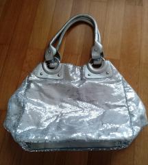 srebrna torbica z bleščicami - novo!