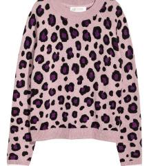 Leopard pulover - mešanica volne