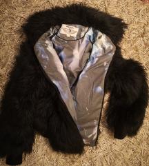 Diesel črna Faux Fur jakna