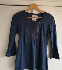 Dolga modra majica H&M