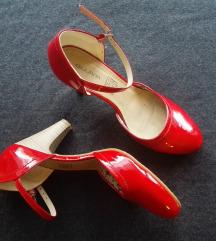Rdeči čevlji s peto *NOVI*