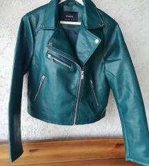 Nova zelena jakna umet. usnje