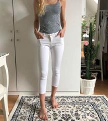 Zara bele jeans hlače