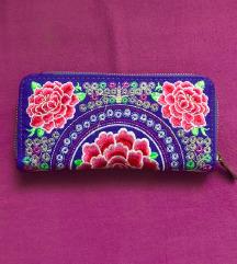 NOVA čudovita izvezena denarnica (s poštnino)
