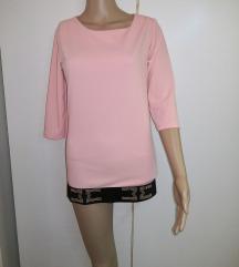 Roza daljša majica/tunika