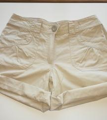 Bombažne bež kratke hlače