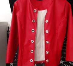 Usnjena jaknica s