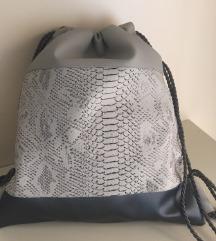 Modni nahrbtnik sivo črn