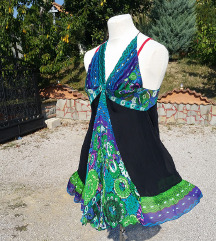 ROBERTO CAVALLI št. 36 / 38 svilena obleka