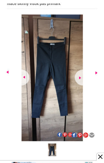 Nove črne hlače skinny visok pas primark