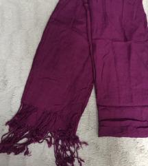vijoličen šal
