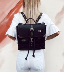 Usnjena črna torbica GLORIA-unikat