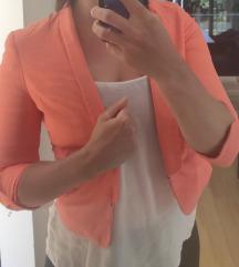 Blazer Straudivarius oranžne barve