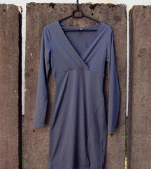 Sivo modra obleka H&M 36