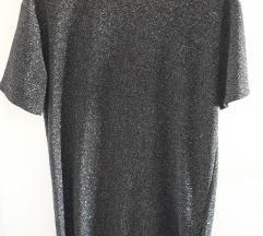 Kratka obleka z metaliziranimi vlakni Zara