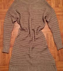 Rjava topla pulover obleka M/L