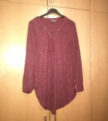 Rdeč daljši pulover/ tunika M