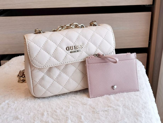 Torbica Guess - Suave small Leather bag