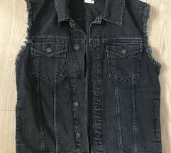 Črni jeans brezrokavnik