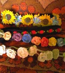 rože trakov/obročii za lase,unikati