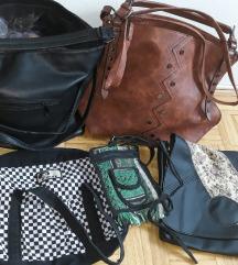 Razlicne zenske torbe po 2 ali 5eur