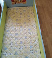 otroška posteljica z jogijem 120x60cm