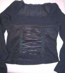 žametna gothic majica z napihnjenimi rokavi