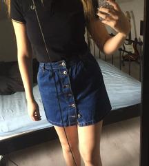 Jeans temno modro krilo z gumbi