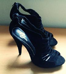 NOVO BATA črni salonarji sandali open toe
