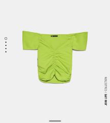 NOVA Z ETIKETO Zara zelena majica / top