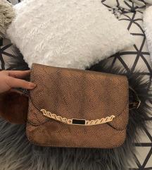 Elegantna torbica kačji print (bronasta)