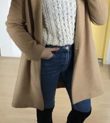 Camel coat plasc Zara