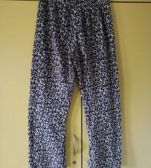 plišaste leopard hlače