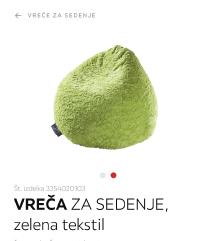 AKCIJA! Fluffy vreča za sedenje (MPC 79€)